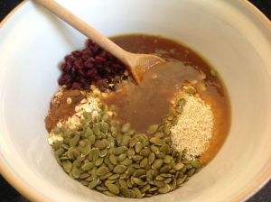 Mixture ready to mix