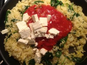Add tomatoes and Feta
